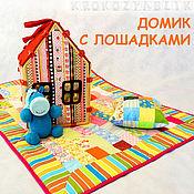 Куклы и игрушки ручной работы. Ярмарка Мастеров - ручная работа Домик с лошадками. Handmade.