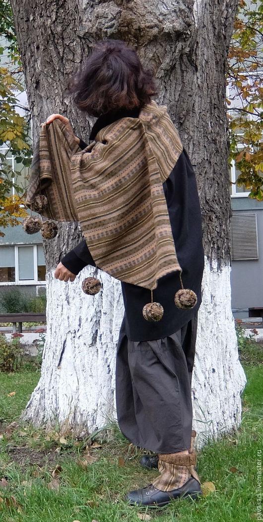 """Шарфы и шарфики ручной работы. Ярмарка Мастеров - ручная работа. Купить Шарф """"Лесные тени"""". Handmade. Орнамент, Шарф с орнаментом"""