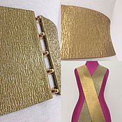 Аксессуары handmade. Livemaster - original item Elastic belts Gold Mat & Glitter h: 20-95mm, clasps to choose from. Handmade.