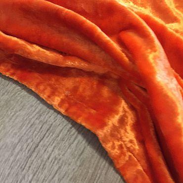 Материалы для творчества ручной работы. Ярмарка Мастеров - ручная работа Плюш винтаж редкий оранжевый СССР. Handmade.
