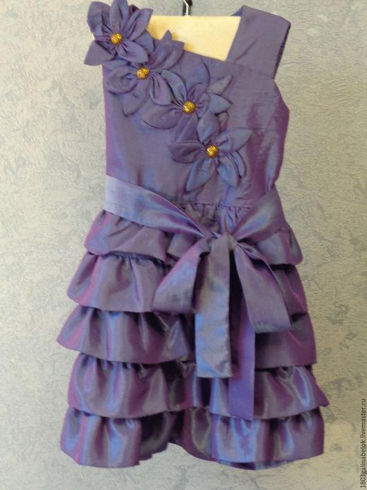 Одежда для девочек, ручной работы. Ярмарка Мастеров - ручная работа. Купить Платье для любимой дочки. Handmade. Фиолетовый, детский праздник