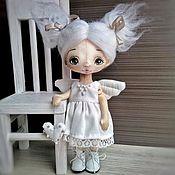 Куклы и игрушки ручной работы. Ярмарка Мастеров - ручная работа Ангел светлый, кукла текстильная, 19 см (резерв). Handmade.