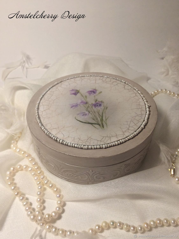 Round jewelry box 'Mary', Box, Moscow,  Фото №1