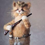 Куклы и игрушки handmade. Livemaster - original item A GOOD HUNTING cat Knitted. Handmade.