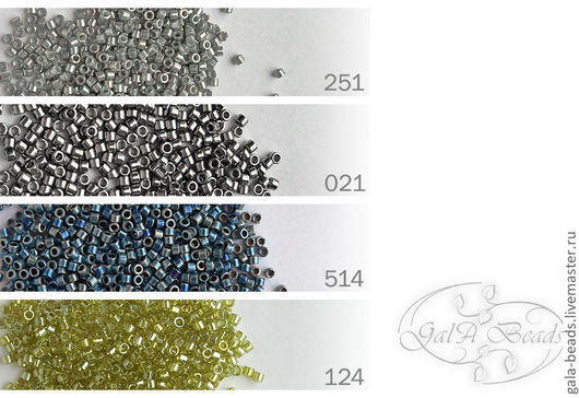 251   opaque luster rainbow grey-gold\r\n021   opaque nickel finish \r\n514   opaque steel blue\r\n124    transparent luster yellow-green