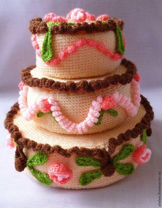 Обучающие материалы ручной работы. Ярмарка Мастеров - ручная работа. Купить Мастер-класс по вязанию. Праздничный торт-шкатулка + секси девушка. Handmade.