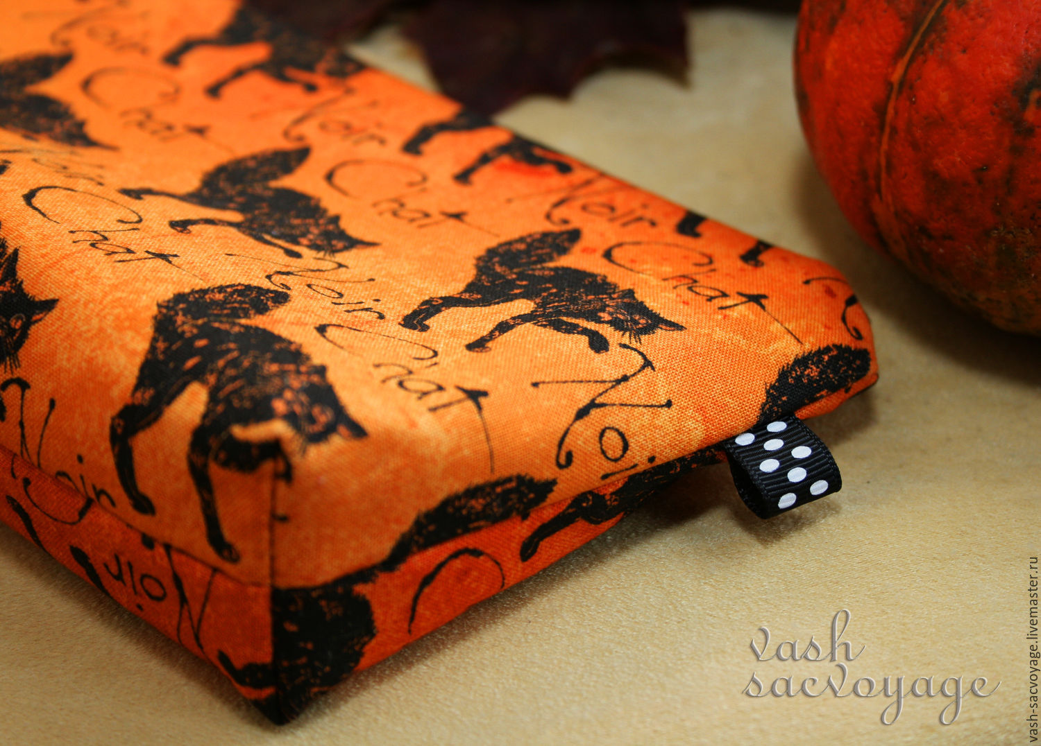 Halloween gift, Cosmetic bag Black seals – shop online on Livemaster with  shipping - AAOYDCOM | St  Petersburg