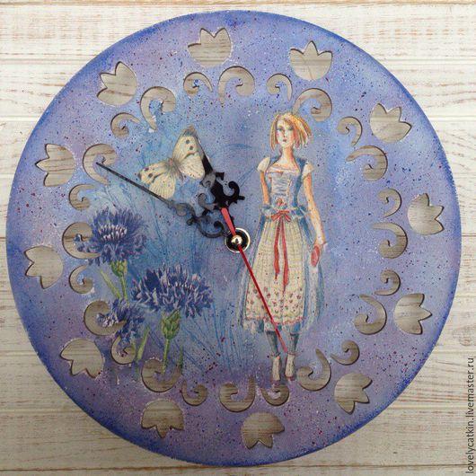 """Часы для дома ручной работы. Ярмарка Мастеров - ручная работа. Купить часы настенные """"Девичьи грезы"""". Handmade. Настенные часы"""