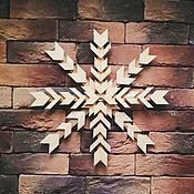 Для дома и интерьера handmade. Livemaster - original item Wooden snowflakes in Norwegian style 3D. Handmade.