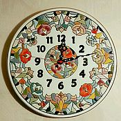Для дома и интерьера handmade. Livemaster - original item clocks, decorative,ceramic,round. Handmade.