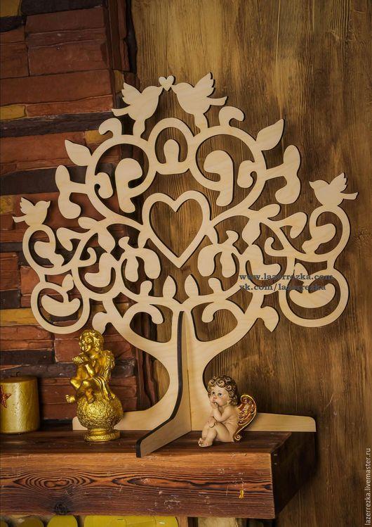 Свадебные аксессуары ручной работы. Ярмарка Мастеров - ручная работа. Купить Дерево пожеланий на свадьбу. Handmade. Бежевый, дерево любви