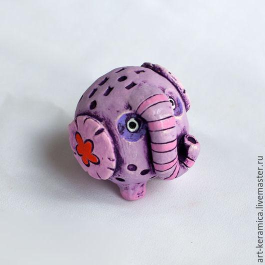 Миниатюрные модели ручной работы. Ярмарка Мастеров - ручная работа. Купить Слон керамический Лило. Фигурка слона, слон сувенир. Handmade.
