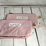 """Сумки и аксессуары ручной работы. Ярмарка Мастеров - ручная работа Косметичка для путешествий """"Enjoy the little things"""" (пыльная роза). Handmade."""