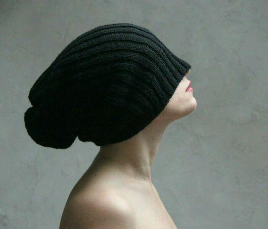 """Шапки ручной работы. Ярмарка Мастеров - ручная работа. Купить Шапка """"Beanie Black"""". Handmade. Бини, шапка женская, унисекс"""