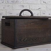Для дома и интерьера handmade. Livemaster - original item big box for products and bread from the dark ash. Handmade.