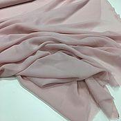 Ткани ручной работы. Ярмарка Мастеров - ручная работа Итальянский Шелк стрейч шифон бледно розовый арт. 09-2911. Handmade.