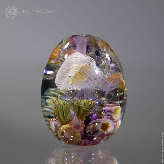 Для украшений ручной работы. Ярмарка Мастеров - ручная работа. Купить Карманный аквариум Лаванда. Handmade. Комбинированный, художественное стекло