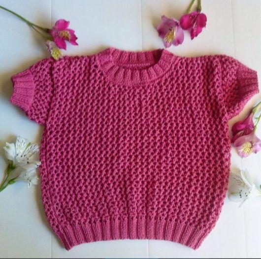 Одежда для девочек, ручной работы. Ярмарка Мастеров - ручная работа. Купить Детский свитшот с коротким рукавом. Handmade. Свитшот