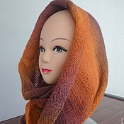 Аксессуары handmade. Livemaster - original item Knitted Snood cowl Autumn leaves in 2 bridle. Handmade.