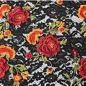 Материалы для творчества handmade. Livemaster - original item Chantilly lace with embroidery a La Valentino. Handmade.