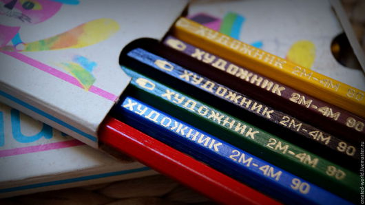 Винтажные сувениры. Ярмарка Мастеров - ручная работа. Купить Набор карандашей.. Handmade. Комбинированный, набор карандашей, винтажный, дерево