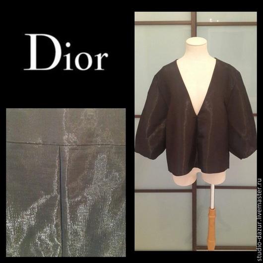 Топы ручной работы. Ярмарка Мастеров - ручная работа. Купить Блуза из шёлка Dior. Handmade. Черный, блузка, платье, шёлк