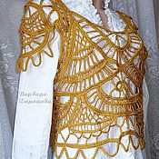 """Одежда ручной работы. Ярмарка Мастеров - ручная работа Вязаный жилет """"Золотистое плетение"""". Handmade."""