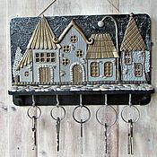 Для дома и интерьера handmade. Livemaster - original item Housekeeper Night City 5.The housekeeper wall. decor polymer clay.. Handmade.
