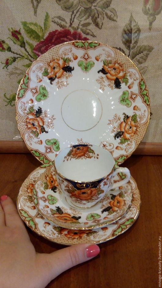 Винтажная посуда. Ярмарка Мастеров - ручная работа. Купить Старинный квартет 19 век. Handmade. Staffordshire, Блюдце