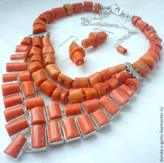 колье, авторское колье, колье на каждый день, колье на выход, колье из коралла, колье из оранжевого коралла, колье с оранжевым кораллом, колье с кораллом, бусы из коралла, бусы из оранжевого коралла, бусы коралл