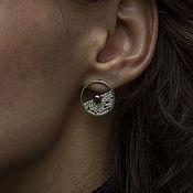 Украшения handmade. Livemaster - original item Harmony earrings silver, black pearl. Handmade.