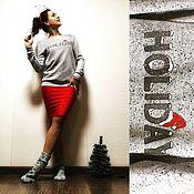 """Одежда ручной работы. Ярмарка Мастеров - ручная работа Свитшот """"Holiday"""". Handmade."""