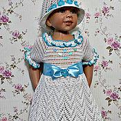 Работы для детей, ручной работы. Ярмарка Мастеров - ручная работа Платье ,,Незабудка,, + шляпка. Handmade.