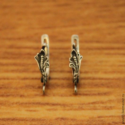 Для украшений ручной работы. Ярмарка Мастеров - ручная работа. Купить Серебряные швензы, английский замок, серебро 925. Handmade.