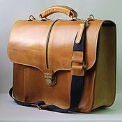 Сумки и аксессуары handmade. Livemaster - original item Briefcase leather. Handmade.