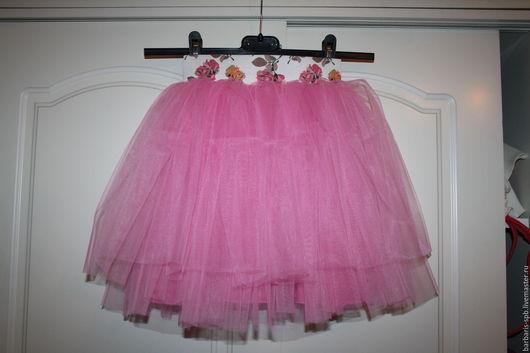 Одежда для девочек, ручной работы. Ярмарка Мастеров - ручная работа. Купить Детская пышная юбка пачка розовая. Handmade. Розовый