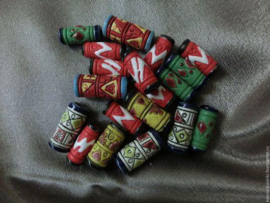 Для украшений ручной работы. Ярмарка Мастеров - ручная работа. Купить Этнические бусины из Перу резные керамика в ассортименте. Handmade.