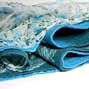 Аксессуары ручной работы. Ярмарка Мастеров - ручная работа шарф валяный бирюзово-мятно-зеленый. Handmade.