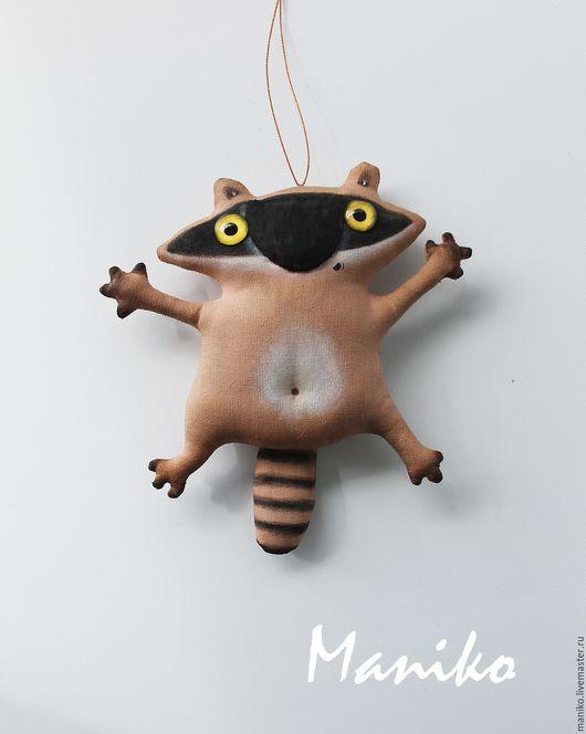 Игрушки животные, ручной работы. Ярмарка Мастеров - ручная работа. Купить Енотик Вооот так тебя обнимаю Кофейная игрушка. Handmade.