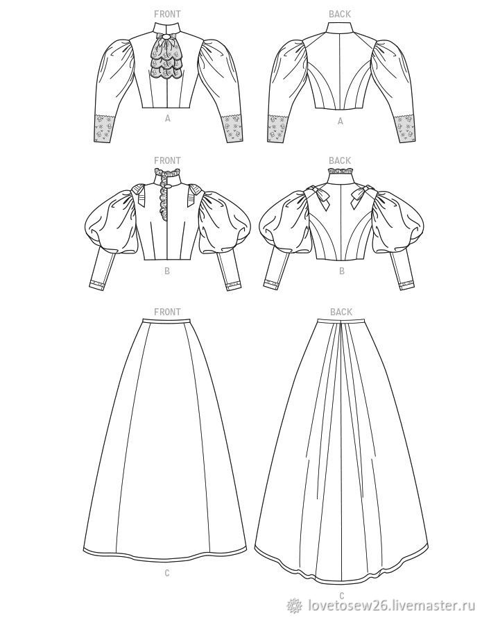 SEWING PATTERN 2 Historical Victorian Costumes 1890-1895 – shop ...