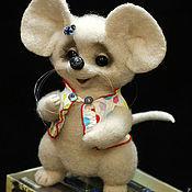 """Куклы и игрушки ручной работы. Ярмарка Мастеров - ручная работа Пушистая мыша """"Я ЛЮБЛЮ ШОКОЛАД"""". Handmade."""