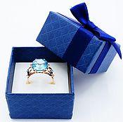 Кольца ручной работы. Ярмарка Мастеров - ручная работа Голубые небеса женское кольцо с топазами. Handmade.