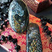 Фен-шуй и эзотерика ручной работы. Ярмарка Мастеров - ручная работа Комплект фэнтези украшений: кольцо и кулон с росписью Лавовые драконы. Handmade.
