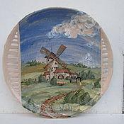 Для дома и интерьера ручной работы. Ярмарка Мастеров - ручная работа Пейзаж  Декоративная тарелка. Handmade.