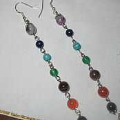 Украшения handmade. Livemaster - original item Long rainbow chakra earrings