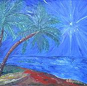 """Картины и панно ручной работы. Ярмарка Мастеров - ручная работа """"Зачарование ночи"""". Handmade."""