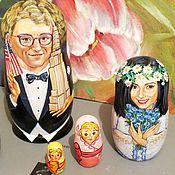 Свадебный салон ручной работы. Ярмарка Мастеров - ручная работа Портретная матрешка на свадьбу, оригинальный свадебный подарок. Handmade.