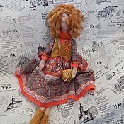 Куклы и игрушки ручной работы. Ярмарка Мастеров - ручная работа Тильда Ханна в стиле бохо. Handmade.