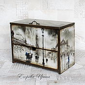 Для дома и интерьера handmade. Livemaster - original item Mini chest of drawers,jewelry box,double copernica