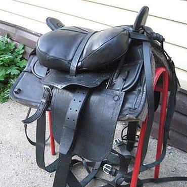 Для домашних животных, ручной работы. Ярмарка Мастеров - ручная работа Комплект седла казачьего в черном цвете. Handmade.